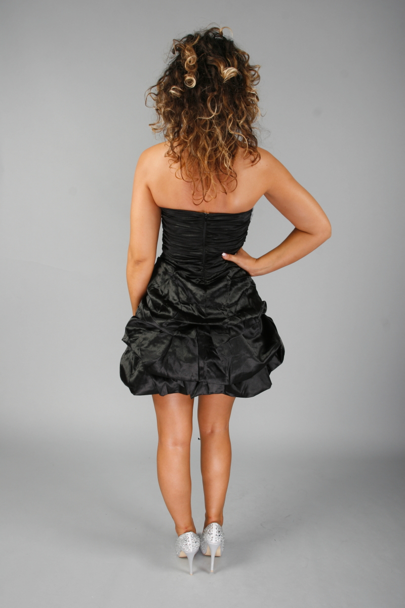82D WOMENS DIAMANTE STRAPLESS PROM PARTY COCKTAIL DRESS