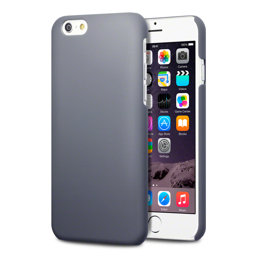 new apple iphone 6s solid grey slim armour rubberised back cover for 15743