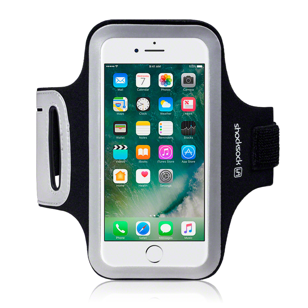 iphone running case shocksock reflective sports running armband 12260