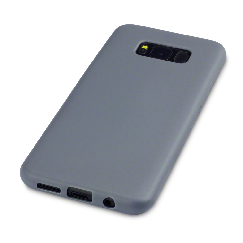 Matte Grey Case And Tempered Glass Screen Protector For Samsung Asoftcase S8 Plus Sentinel Galaxy