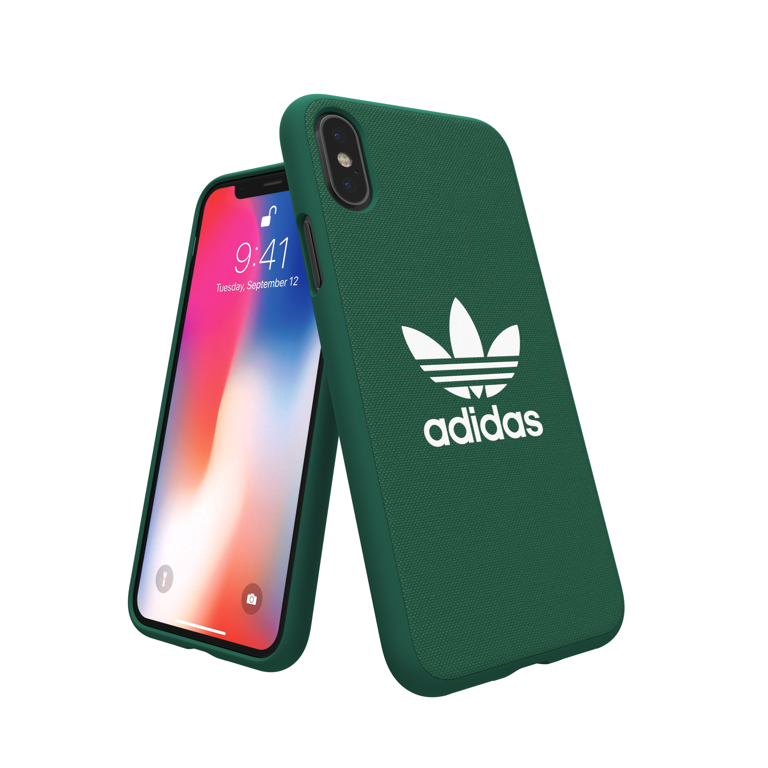 Sentinel Adidas Originals Adicolor Moulded Case / Cover for Apple iPhone X  - Green