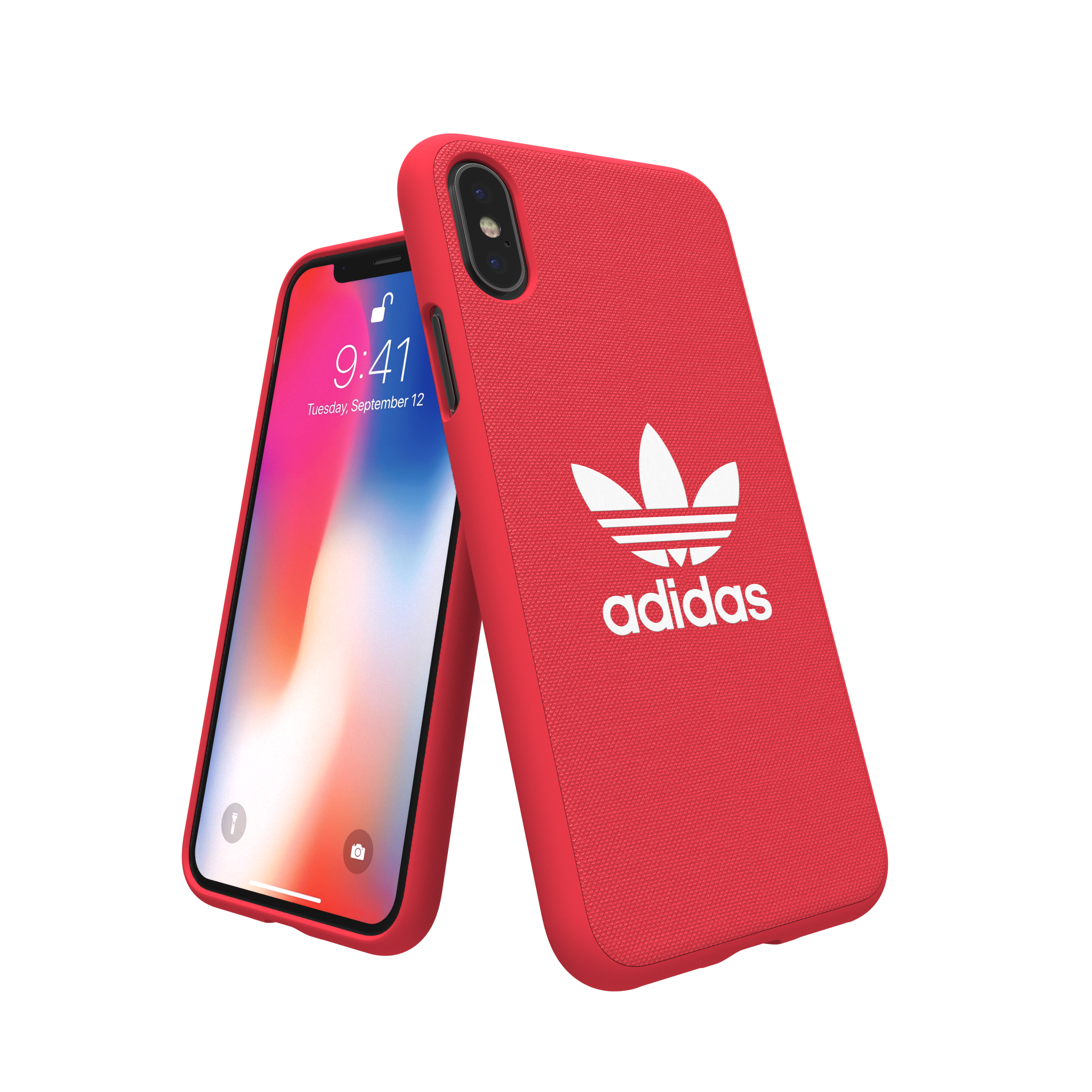 Sentinel Adidas Originals Adicolor Moulded Case / Cover for Apple iPhone X  - Radiant Red