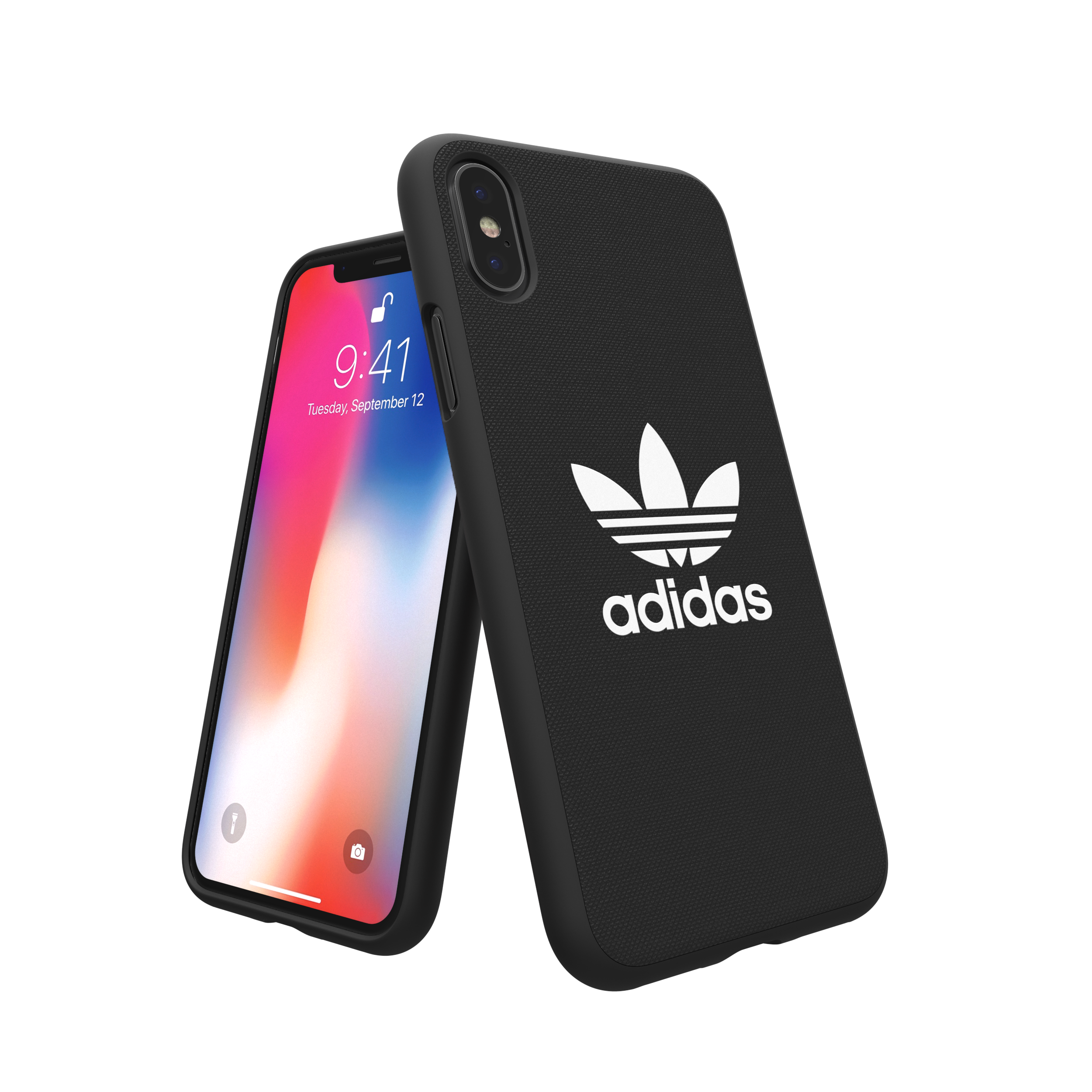 Sentinel Adidas Originals Adicolor Moulded Case / Cover for Apple iPhone X  - Black