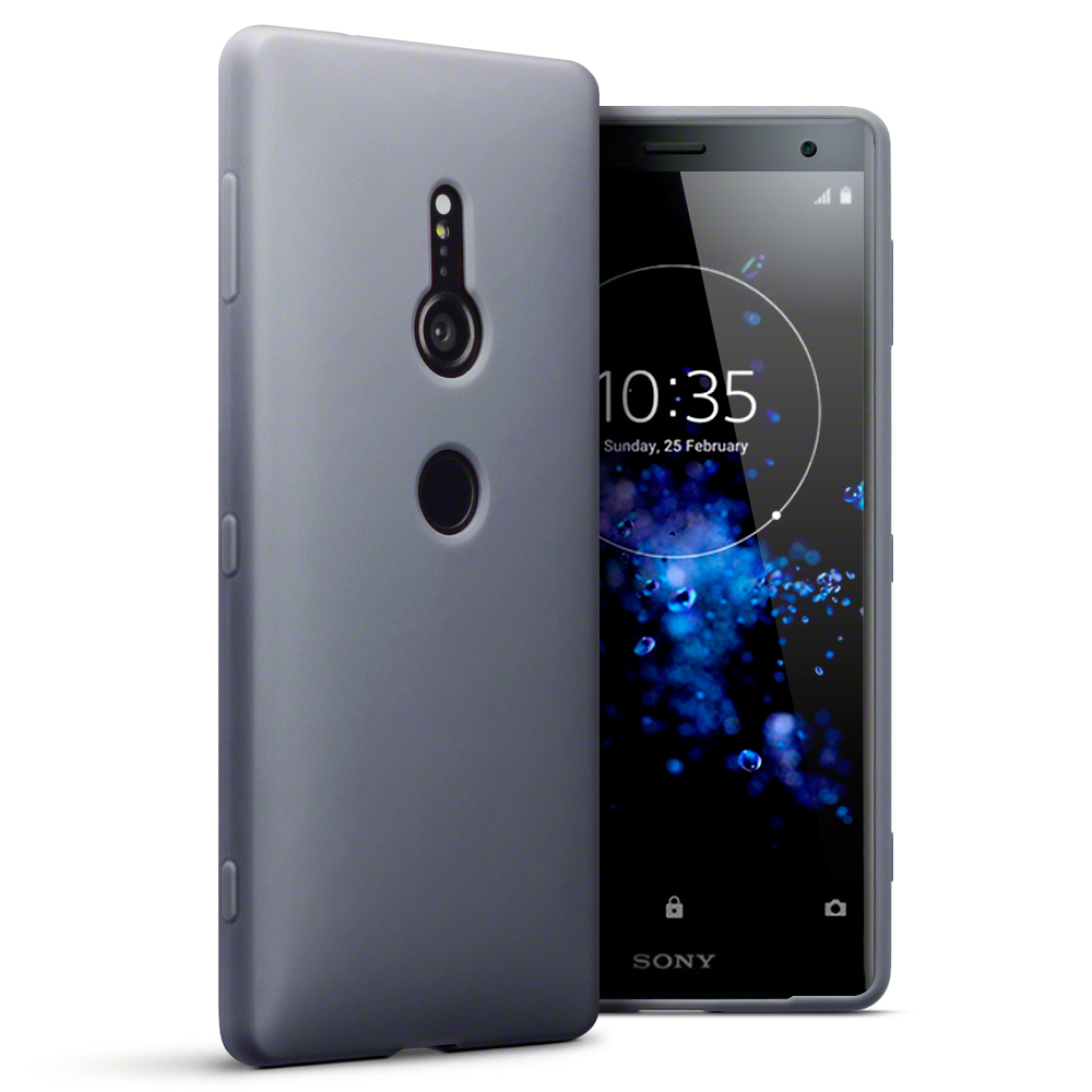 free shipping c3087 238c1 Details about Terrapin TPU Gel Skin Case Cover for Sony Xperia XZ2- Grey  Matte