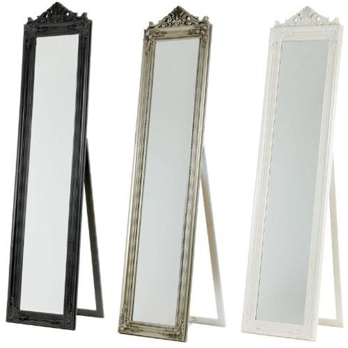 Free Standing Tilting Full Length French Style Dressing Mirror Floor Cheval