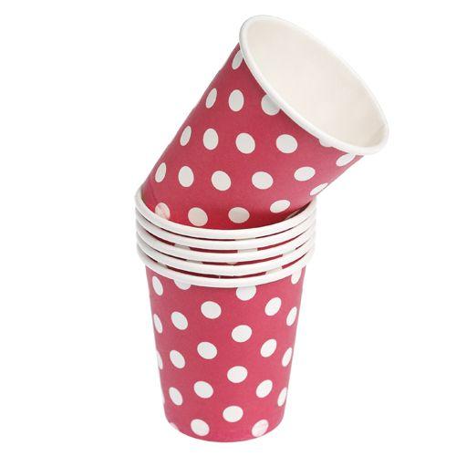 Polka Dot Paper Cups