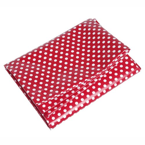 Polka Dot Plasticated Table Cloth