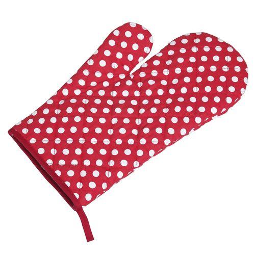 Polka Dot Oven Glove Single