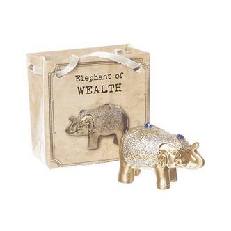 WEALTH - Mini Metallic Gem Glitter Lucky Elephant in a Bag