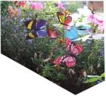 Colourful Garden Butterflies on Sticks x5. Dia 10cm
