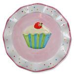 Fairy Cake Design Hand painted Spotty Ceramic Cake Plate