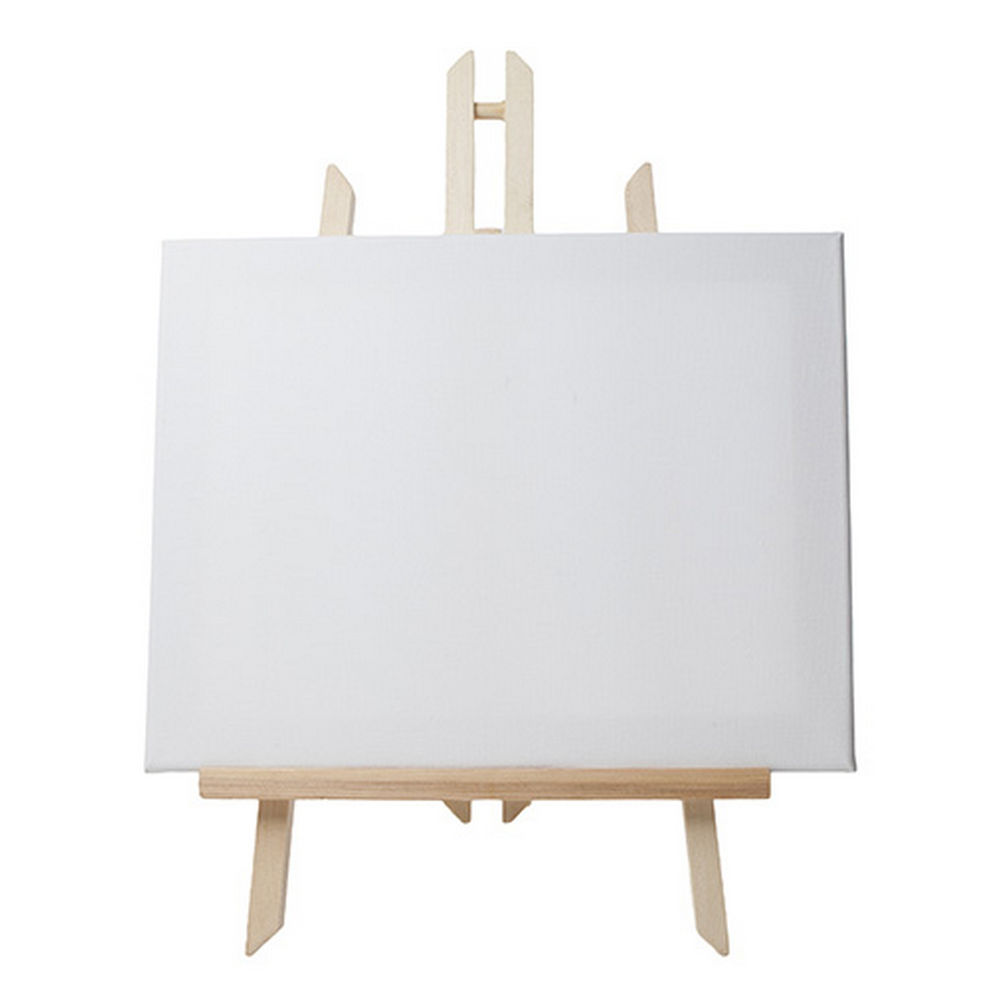 Easel With Canvas Wooden Artist Tripod Retail Signage