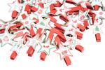 Star Design Decorative Christmas Advent Pegs