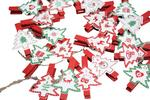 Christmas Tree Design Decorative Christmas Advent Pegs