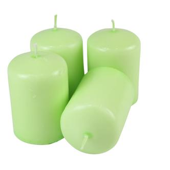 Light Green Overdipped Votive Candle H5.5cm 12hrs Burn x4