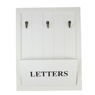 New England Design Wall Mounted Letter & Keys Hook Rack