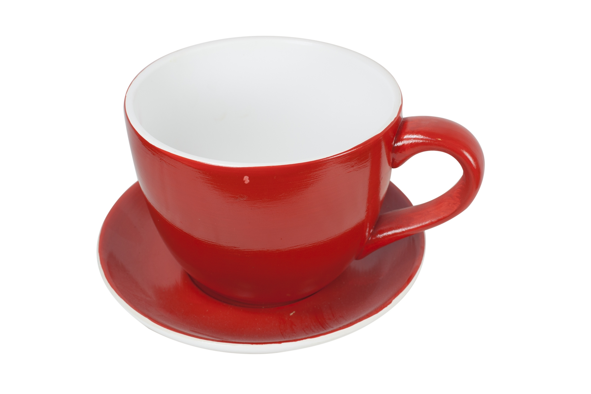 Giant Red Teacup Saucer Planter