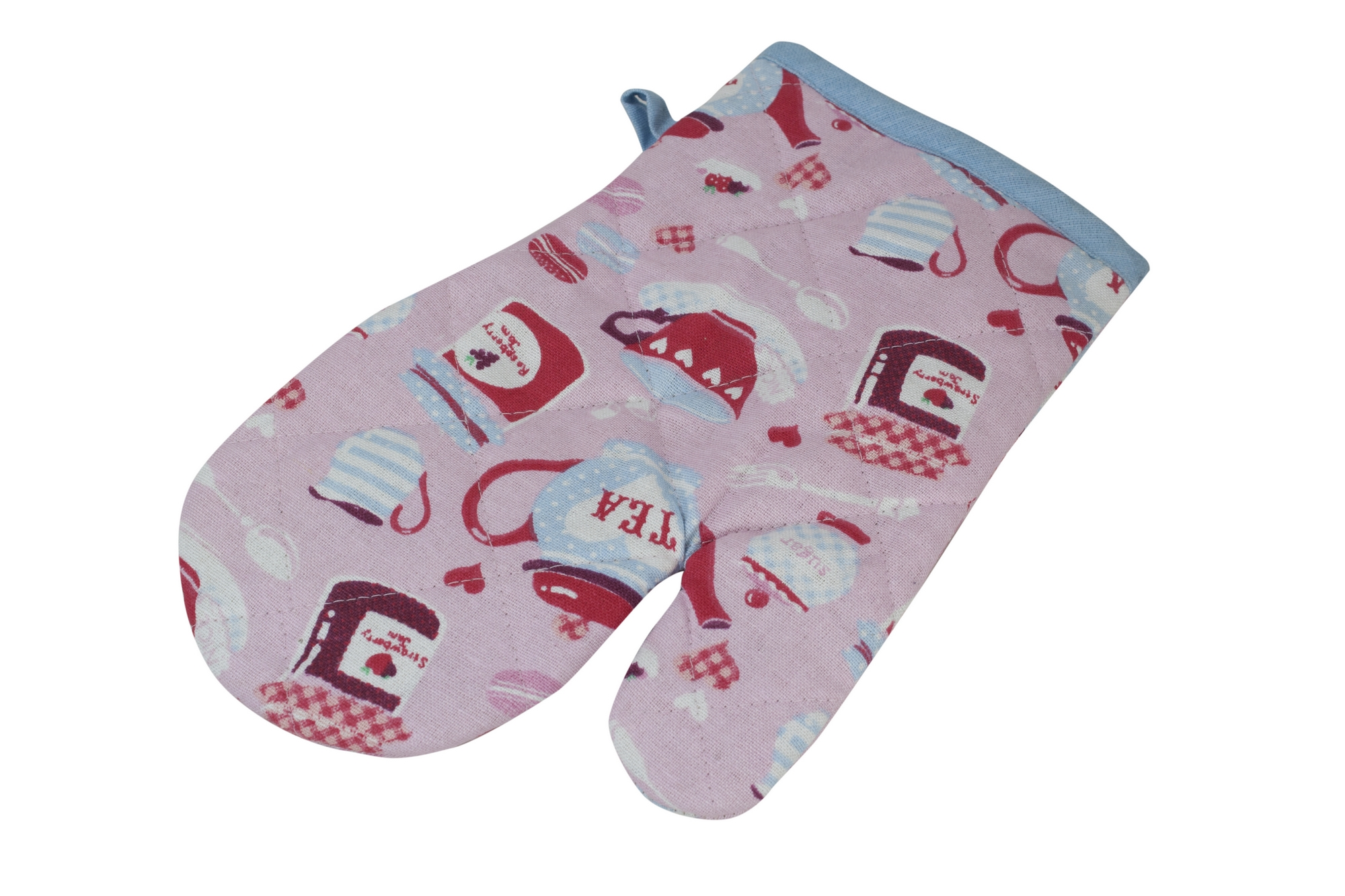 Jam and Tea oven mitt