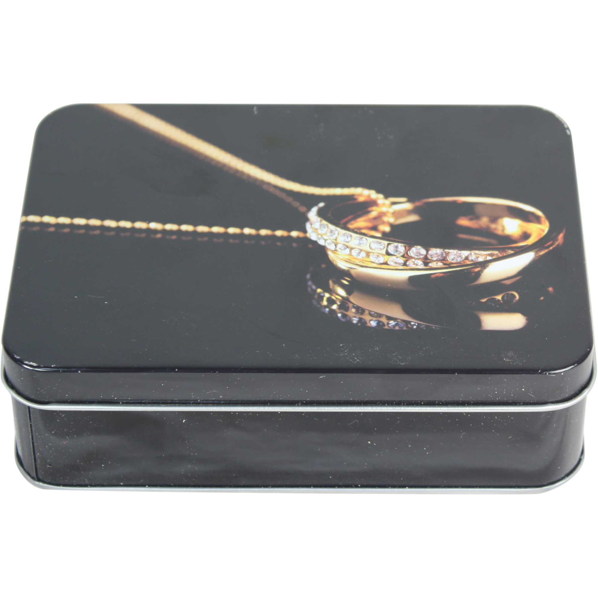 Useful Gold Jewellery Design Storage Tin