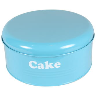 Vintage Retro Design Blue Metal Cake Tin