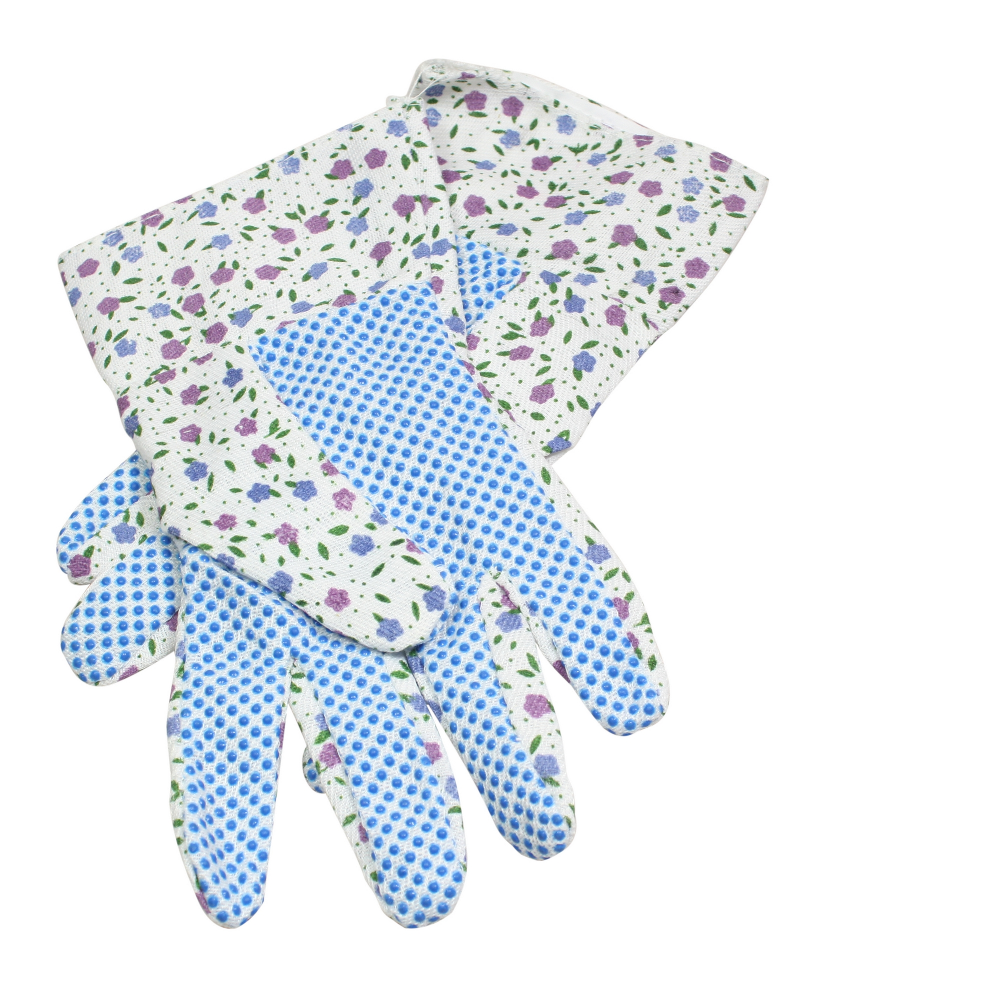 Non Slip Light English Rose Floral Design Gardening Gloves