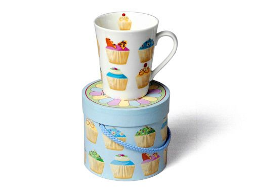 Tea Time Fairy Cake Design Mug with Gift Box