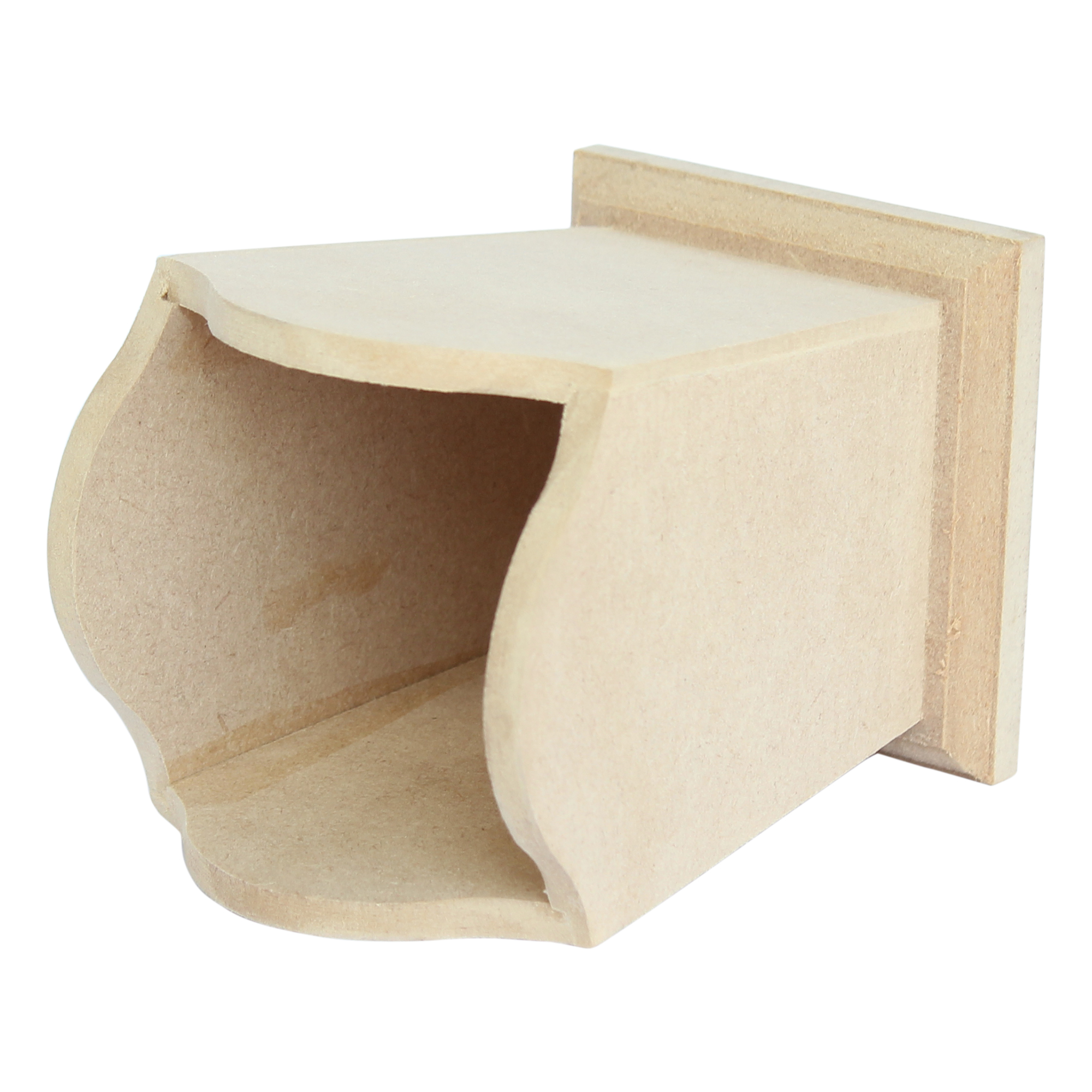 plain mdf wooden desk tidy for decoupage and craft