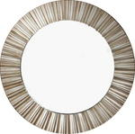 Champagne Sunbeam Round Ribbed Wall Mirror 50cm