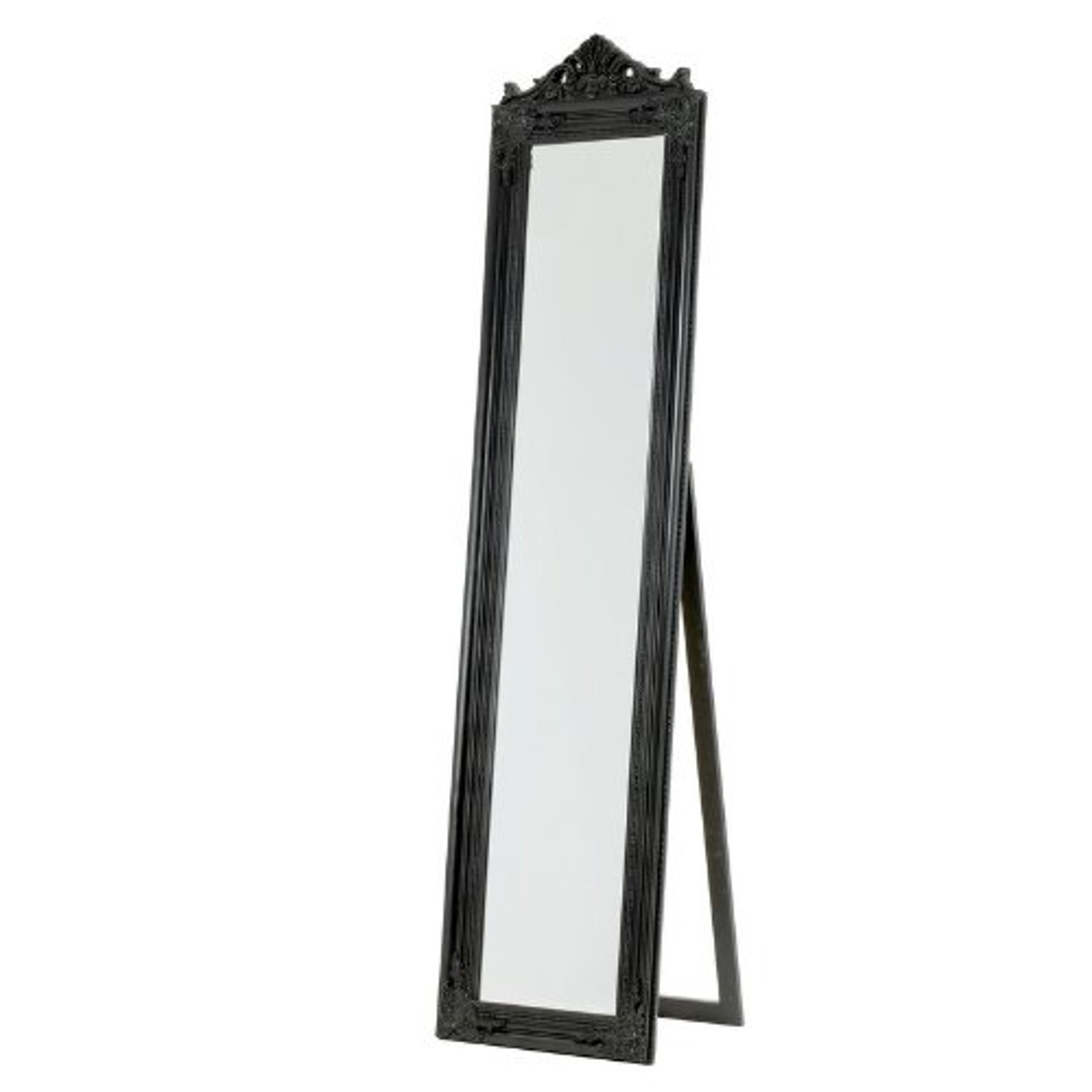 Free Standing French Style Dressing Cheval Mirror Black | blendboutique