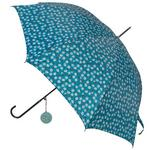 Large White Flower Turquoise Design Umbrella