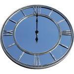 Roman Numeral Mirrored Glass Clock