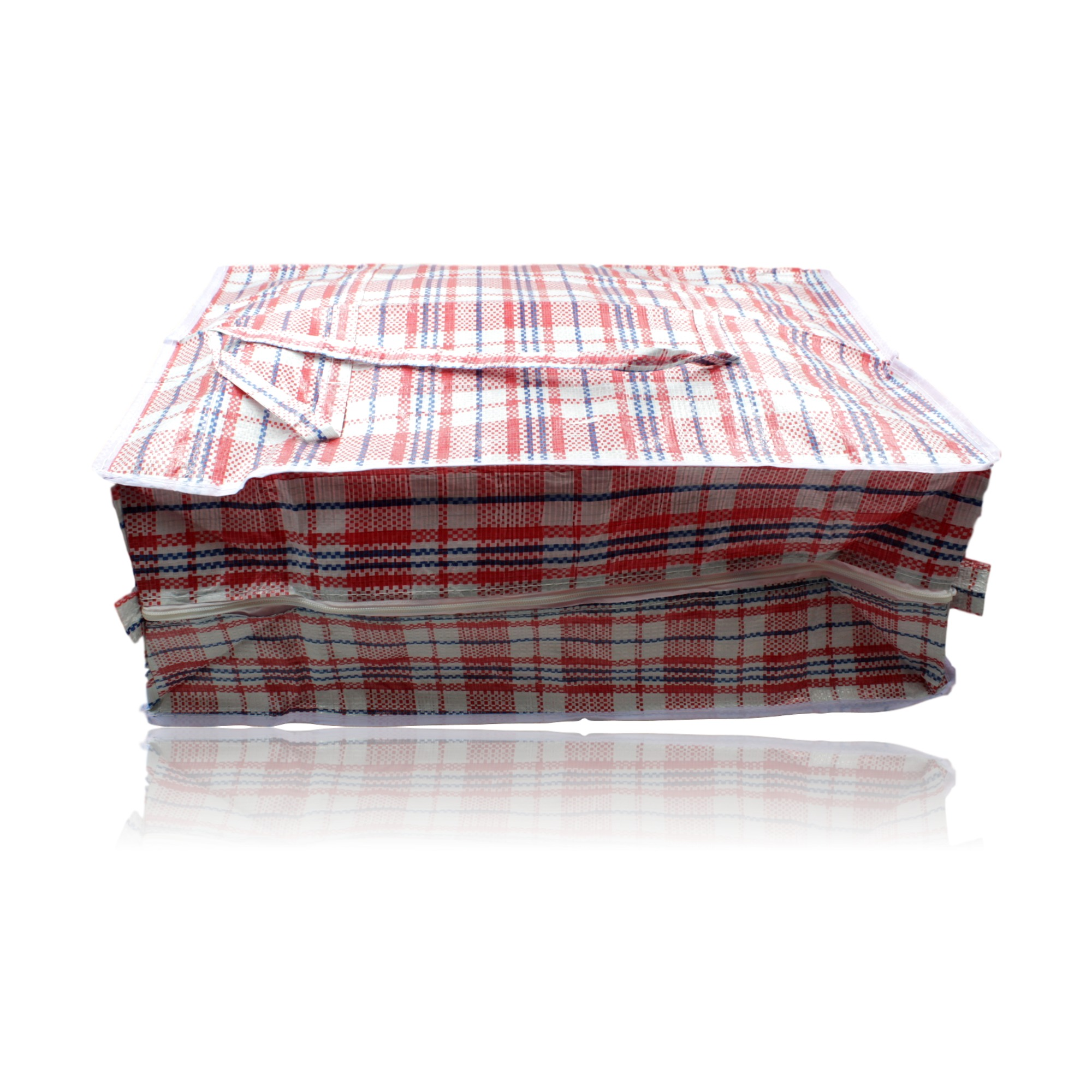 Re Usable Woven Plastic Shopping Storage Laundry Carry Bag