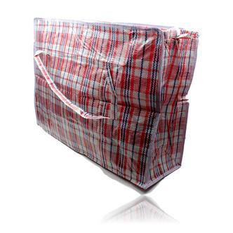 Re-usable Woven Plastic Shopping Storage Laundry Carry Bag