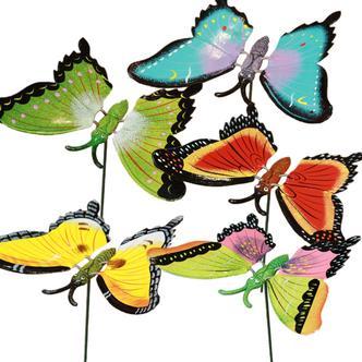 Butterflies on sticks
