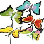 6x 40cm Flower Pot Butterflies with Springy Wings