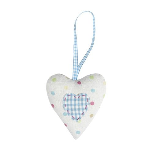 Spot & Gingham Hanging Heart
