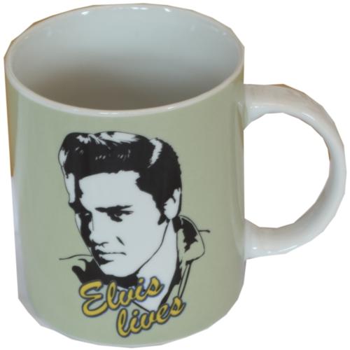 Green Elvis Lives Mug