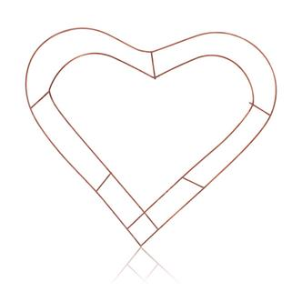 Metal heart wreath form