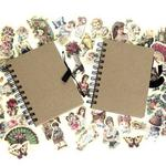 2x Curios Decoupage Notebook Set