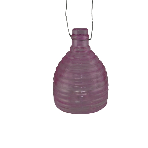 Pink Glass Wasp Catcher