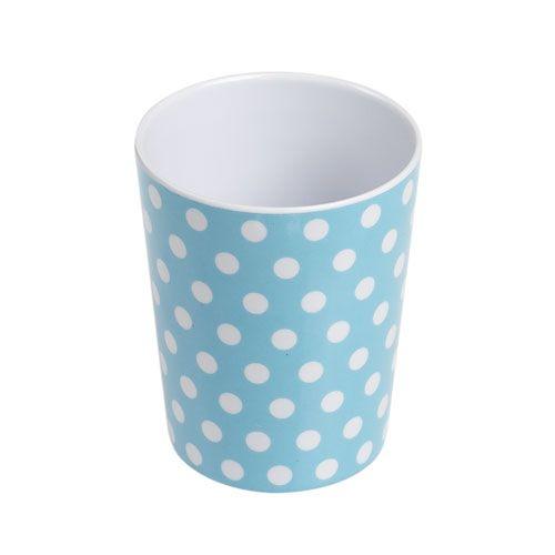Blue Polka Dot Plastic Beaker