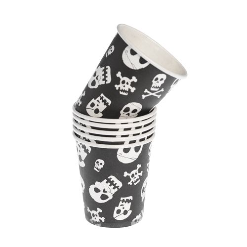 Skull & Cross Bone Design Paper Cups