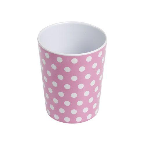 Pink Polka Dot Plastic Beaker