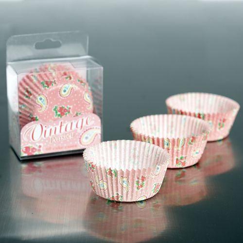 60 Paisley Design Fairy Cake Cases