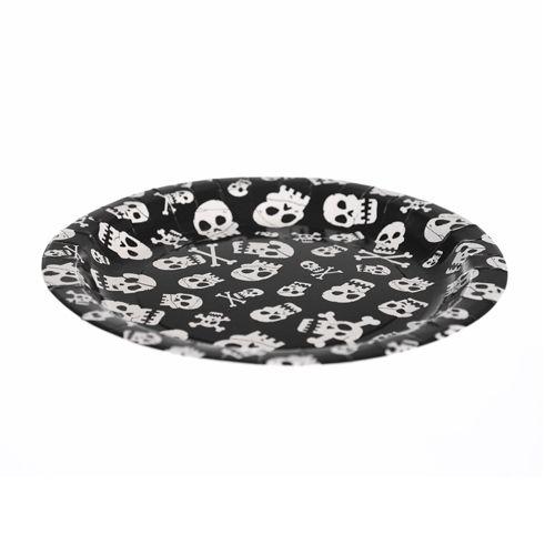 Skull & Cross Bone Design Paper Plates set of 6