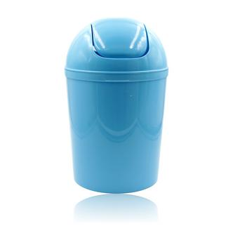 Turquoise Blue bathroom bin