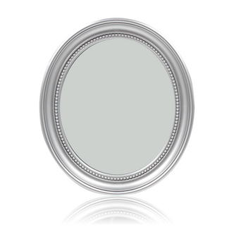 Silver Oval hall Mirror