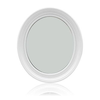 White Oval hall Mirror
