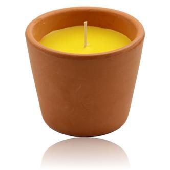 Terracotta Citronella Candle