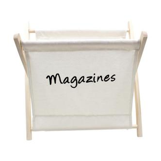 White Cotton magazine Rack